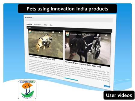 Innovation India pet dog wheelchair based user and utility videos